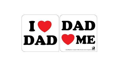 love 2 love汽车防滑矽胶贴( i love dad)