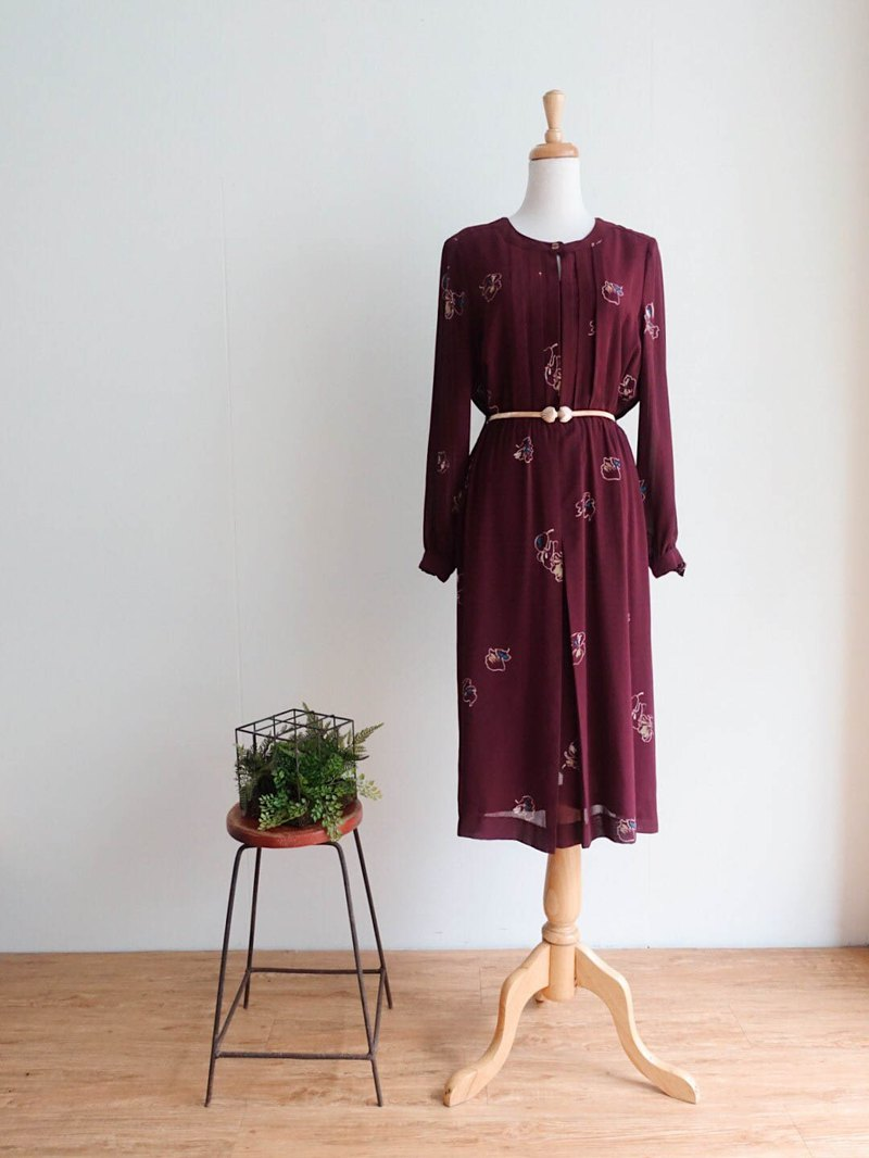Vintage / Long Sleeve Dress no.159 tk