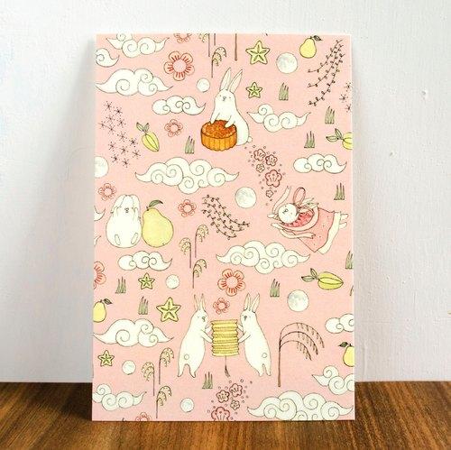 *new*贪吃兔兔《中秋节》明信片/卡片