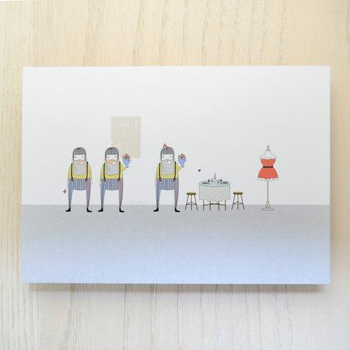 聖誕明信片〔聖誕老伯的徵婚啟事〕