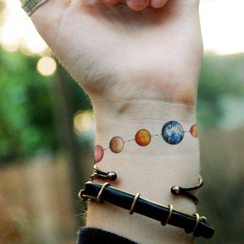tu纹身贴纸-星球手链/刺青/防水纹身/原创