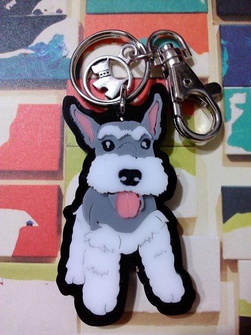 力克鴨♣彩色狗狗♣(客製化)專屬精品鑰匙圈/項鍊【雪納瑞篇】