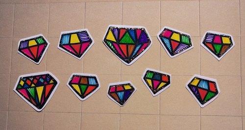 钻石手绘贴纸