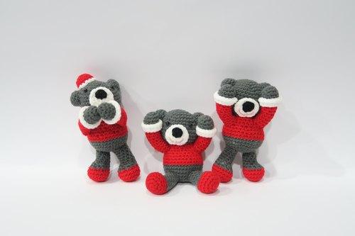 熊,bear,毛线娃娃,可爱吊饰,编织娃娃