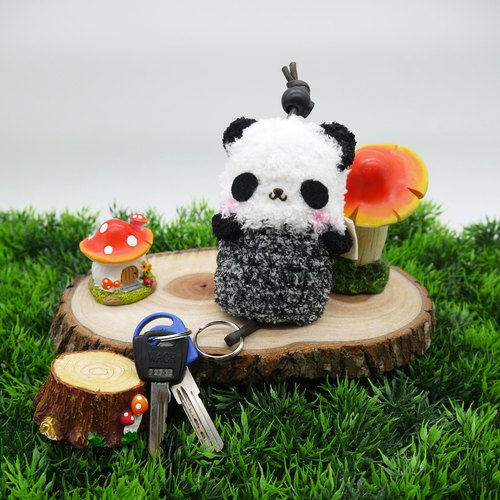 毛线贴画手工制作熊猫