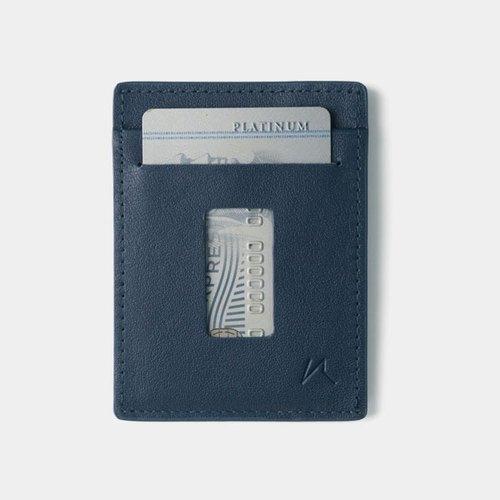 slim card holder minimalist wallet - haru wallet (blue)