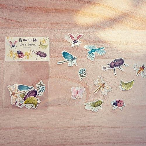 森林动物纸贴画