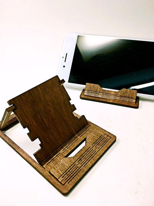 【tab】实木结构随身手机架/定制化/实木/手作/雷射切割/雕刻/手机座