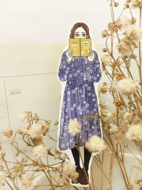 貼貼小日子少女單張貼紙-紫藤花