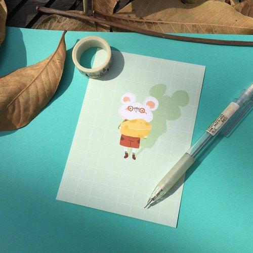 ::小狐狸の柑仔店:: / 小老鼠的起司塊 - 明信片