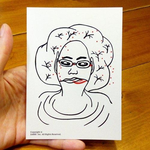 妆花(可制作a3大小的海报) 生日卡 设计 著色 插画 绘本 卡片 万用卡