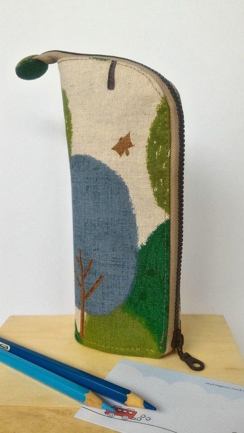 森呼吸直立式笔袋图片
