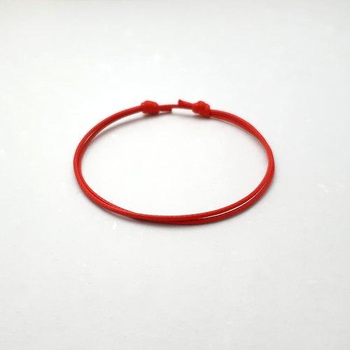 ♥ H.Y ♥ 手作x蠟線手環 極簡款 純蠟線無飾品 素色簡約 蠟繩細線