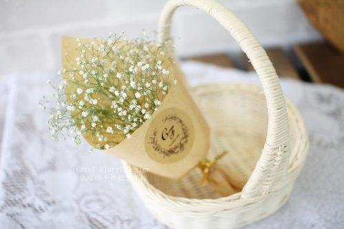 【滿天星小花束】-永生花/乾燥花/珠寶捧花/婚禮捧花花束/花禮