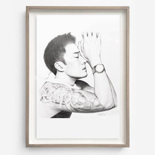 有提供客制服务 ◆名称:客制人物画 ◆素材:铅笔 ◆纸张:素描纸