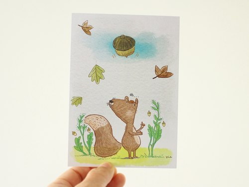 松鼠明信片 - 动物明信片
