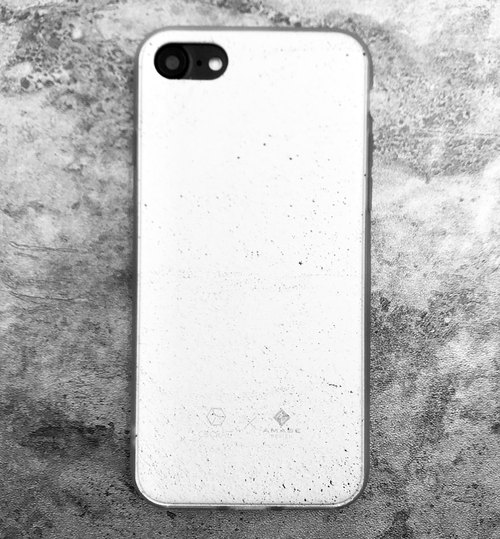 纯白水泥 iphone 手机壳