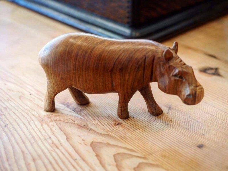 手工雕刻实木动物系列 非洲 河马(共10款)