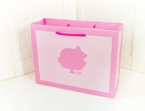 【LOVE LOVE AGOO ® 禮盒包裝】淺粉手提紙袋 GB-003 彌月禮物包裝 台灣製造 滿月送禮