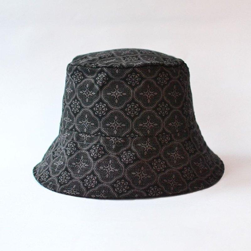c9c415f4221 Fisherman Hat   Begonia Glass Pattern   Gentleman Black - Designer inBlooom