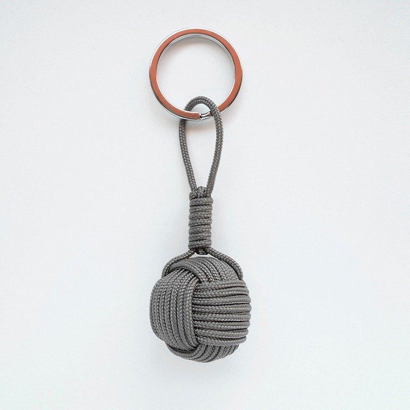 手工制作 猴拳结 水手结 钥匙圈 吊饰 包挂饰 深灰色