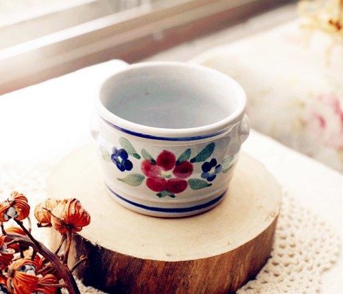 【好日戀物】荷蘭VINTAGE陶瓷調味罐/奶油罐