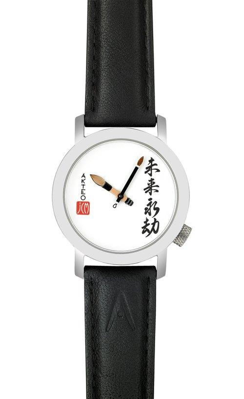AKTEO 法國設計腕錶 ART毛筆系列 (34mm)