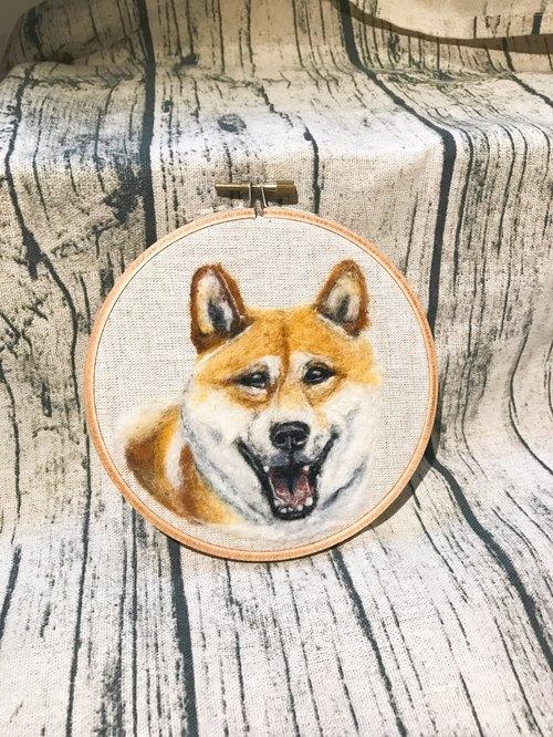 手作羊毛毡|柴犬 宠物 100%羊毛 - rongwork手绘x设计