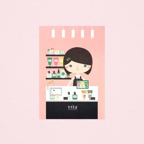[女孩與她的店] yvonne 的美體香氛店 - 明信片