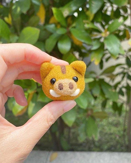 【毛小孩】羊毛毡小动物吊饰(刺猬/大象) - 毛小孩