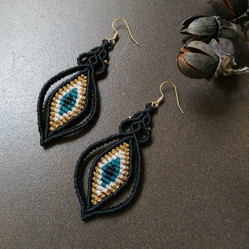 ∮南美编绳手工编织耳环 ∮