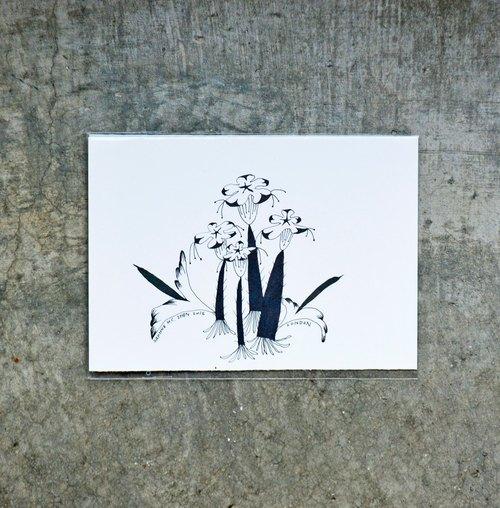 花朵 抽象 山水 叶子 手绘小卡
