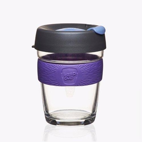 340cc【環保隨行杯KEEPCUP】(黑皮諾紫色)澳洲正品 KeepCup 玻璃雕刻咖啡隨行杯 12oz咖啡杯