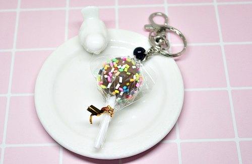 77黏土系列-巧克力棒棒糖- #钥匙圈# #包包配件
