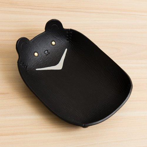 msbr leather动物系列-手绘皮盘/首饰收纳/(大-台湾黑熊)