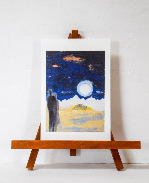 Postcard (オリジナルポストカード) 「Moon River」