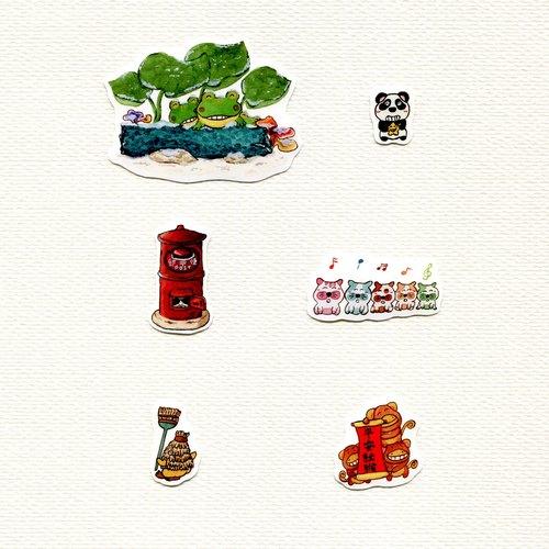 与动物们的森林野餐水彩手绘系列小量优惠组合