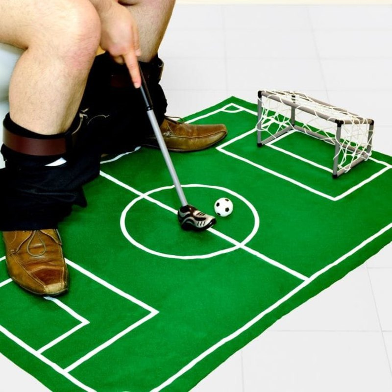 British Temerity Jones toilet to pass the time with fun one-player football game group-exchange gifts