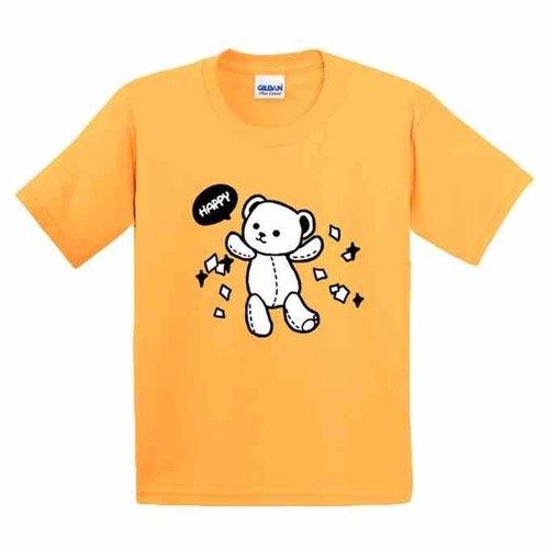 彩绘t恤 | 快乐熊 | 美国棉t恤 | 童装 | 亲子装 | 礼物 |手绘 | 黄色