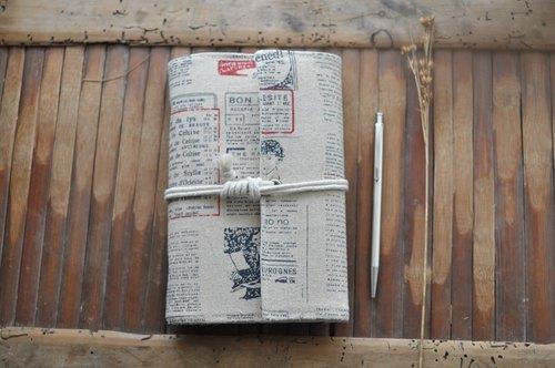 虚室手制 手工布面 笔记本 复古英文报纸风格