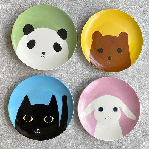 动物跟你say hi系列 - 小熊猫 单入购买区(共四款)~ / 骨瓷 / 餐盘