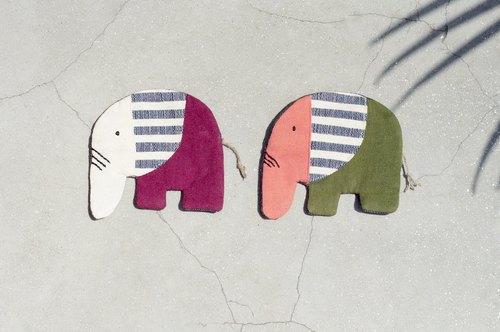 情人节 限量手工织布大象零钱包 / 收纳包 / 小包 / 杂物包 / 耳机