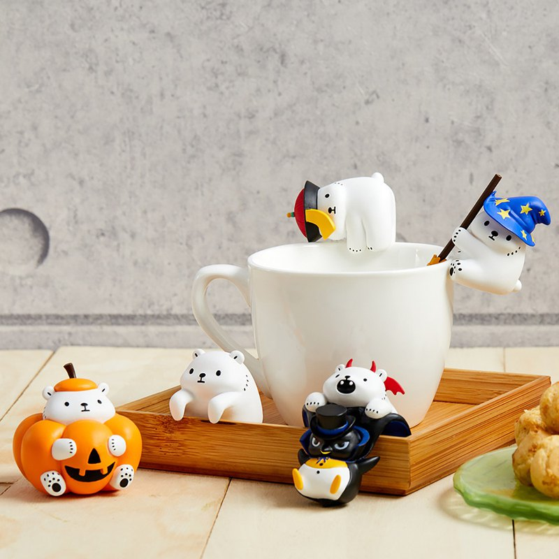 Pre-order white diary series - Halloween funny SHOW cup edge (with random repeat 1 doll)