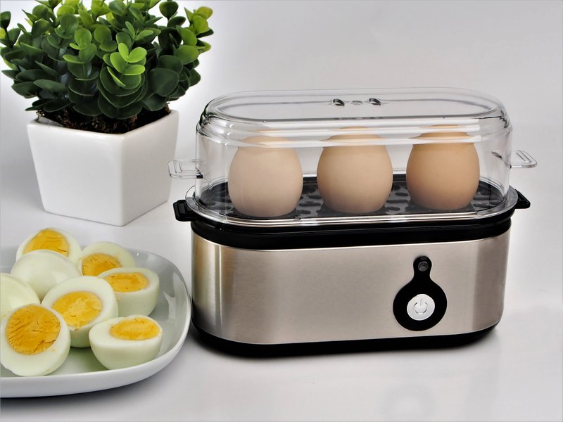 Electric Egg Boiler Cooker - Brushed (w/beep sound)