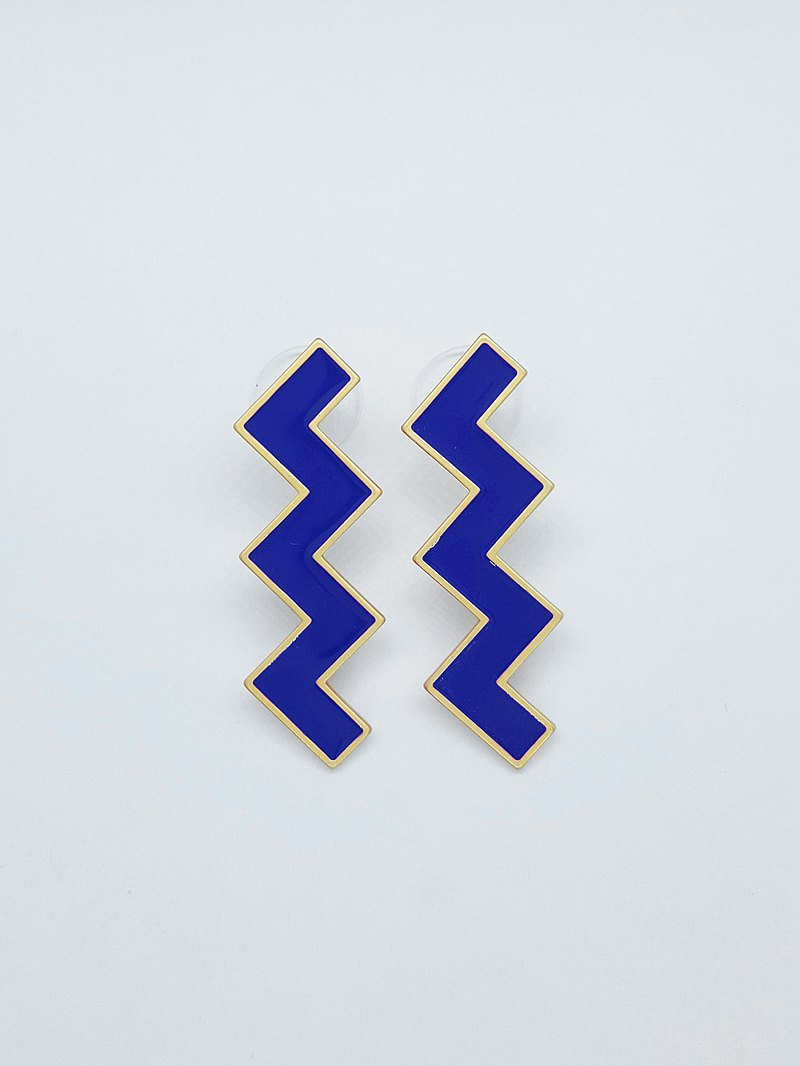 Zs Earrings - Dark Blue