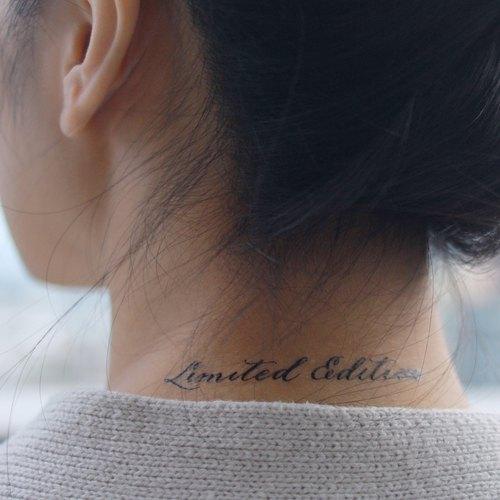 cottontatt limited edition 手寫書法 紋身貼紙