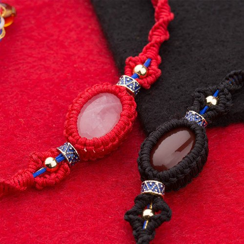 长寿缕 | 串珠手链diy材料包 手工制作五彩编织转运端午手绳 母亲节