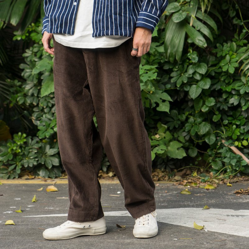 Japanese style with autumn and winter loose design tapered corduroy pants wide cut corduroy pants