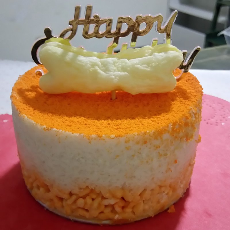 Chicken Cheese Dog Mousse Birthday Cake 4 Inches Designer