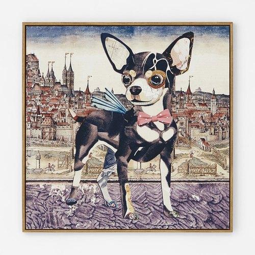 异见动物装饰画 沙发背景挂画 儿童房装饰画狗狗环游世界